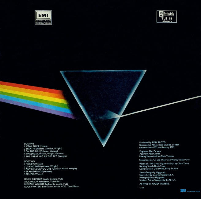 Pink Floyd Dark Side of the Moon sleeve