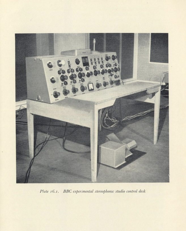 bbc experimental stereophonic desk